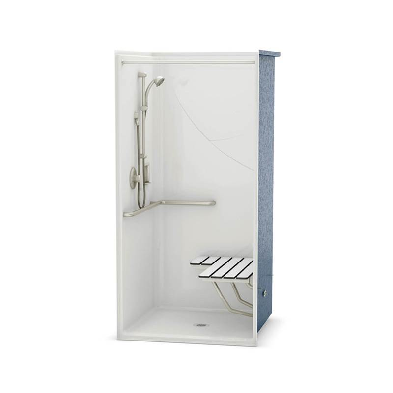 Aker Shower Enclosures White | Ruehlen Supply Company - North-Carolina