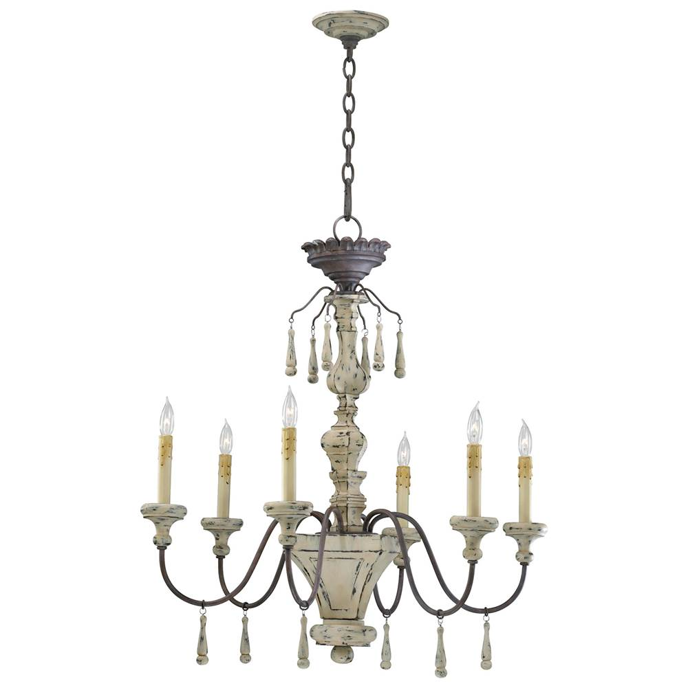 Cyan designs 6513 6 43 six lamp chandelier
