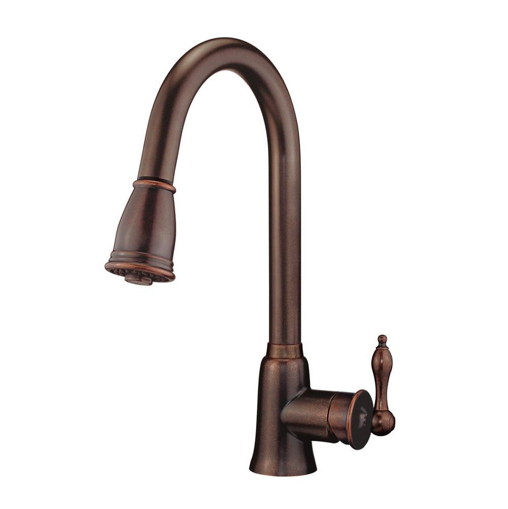 236 60 339 30 D454410br Danze Prince 1h Pull Down Kitchen Faucet