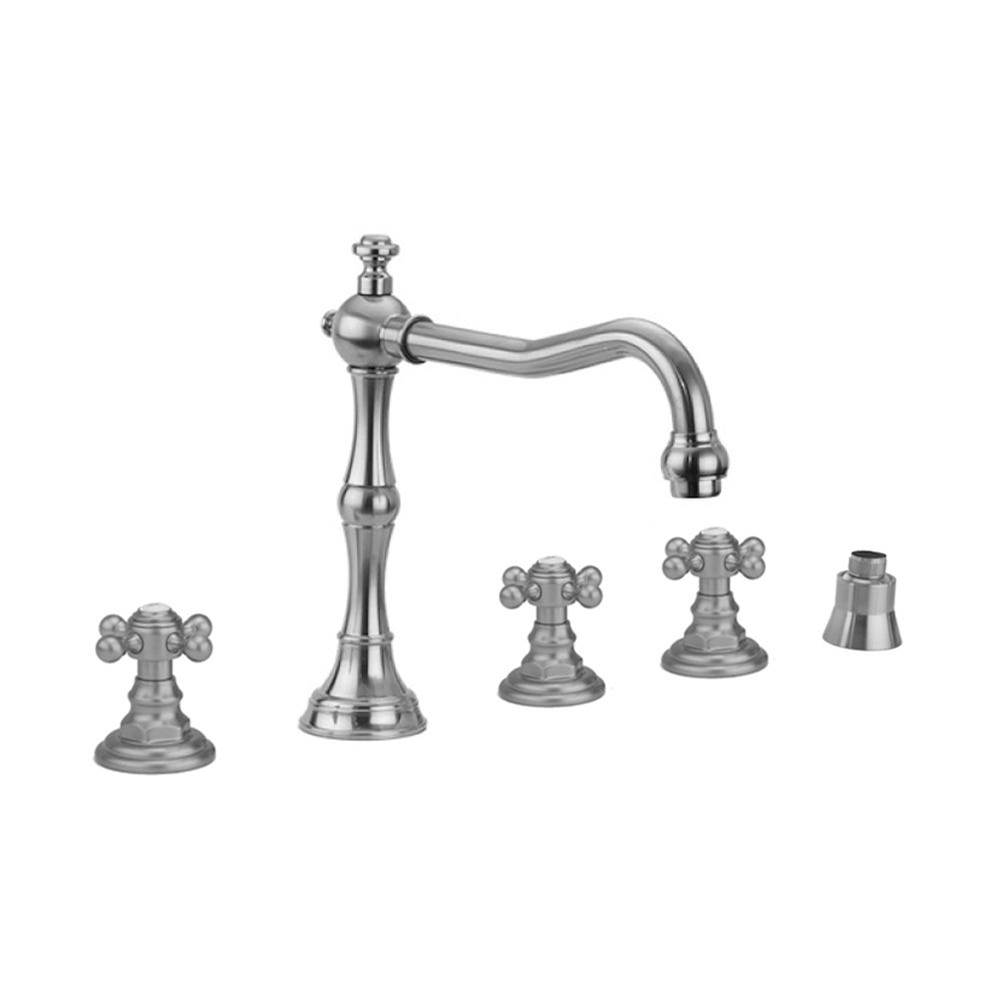 Jaclo A385-TRIM-ACU Traditional Round Pressure Balance Valve with Diverter and Hex Lever Handle Antique Copper Standard Plumbing Supply