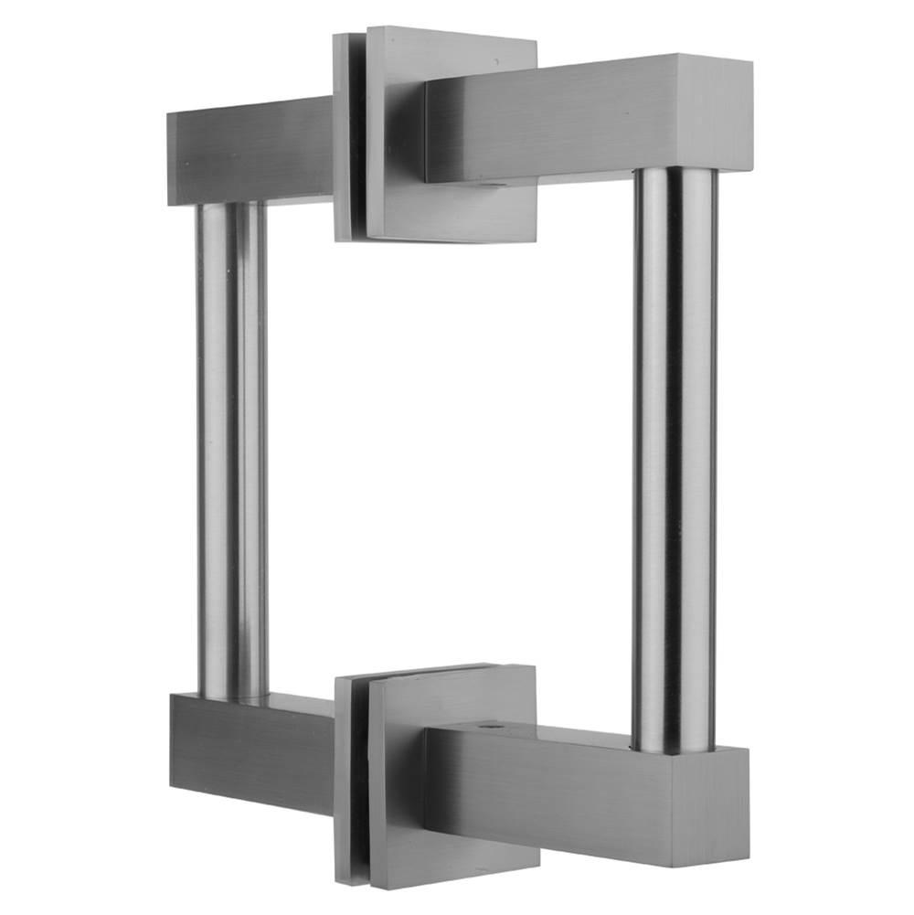Jaclo H61-BB-8-SN Reeded Back-to-Back Shower Door Handles with End Caps Satin Nickel Standard Plumbing Supply