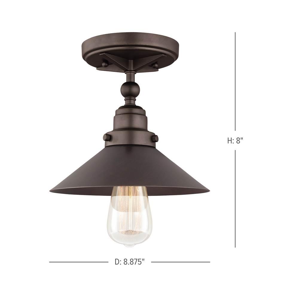 Feiss lighting fm525anbz 1 light flushmount
