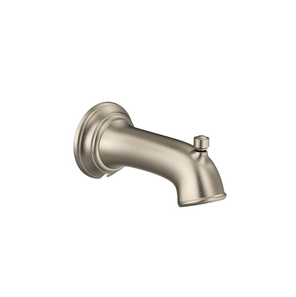 Brushed Gold Moen 161951BG Curved Shower Arm with Wall Flange