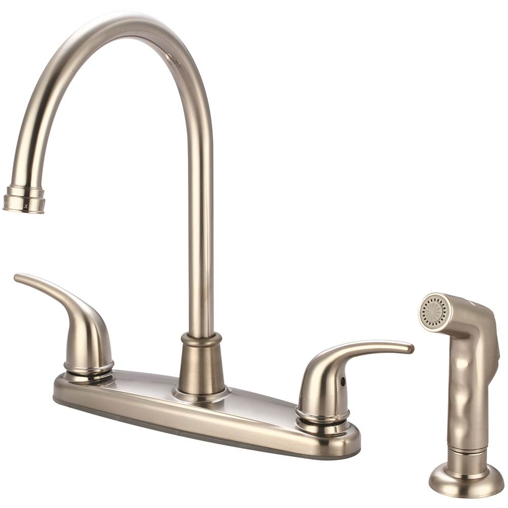 Olympia Faucets K-4161-BN Single Handle Kitchen Faucet PVD Brushed Nickel Finish